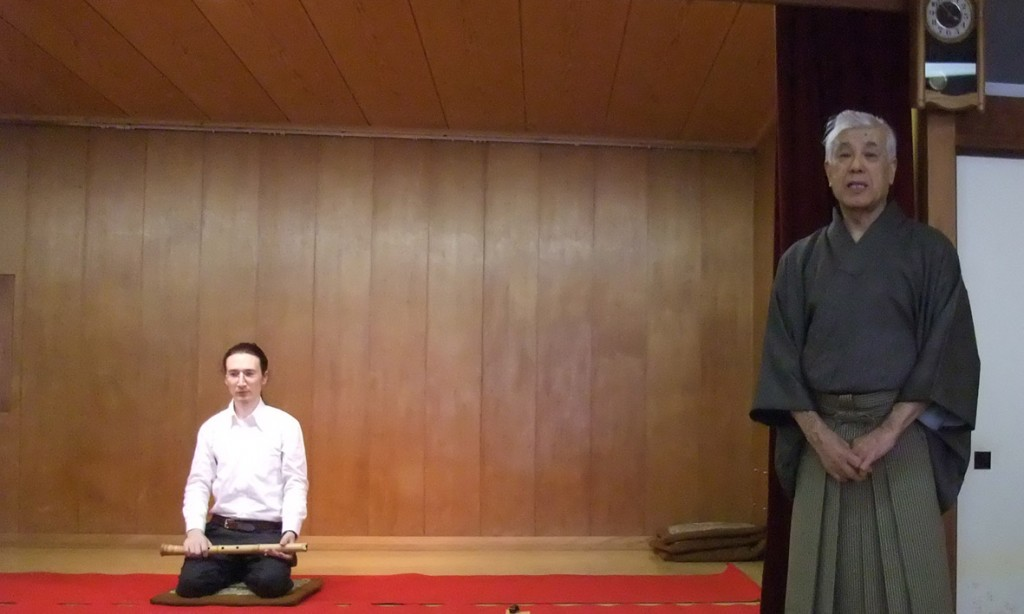 Justin Senryu performs Mukaiji in annual Seien-ryū performance, 2010