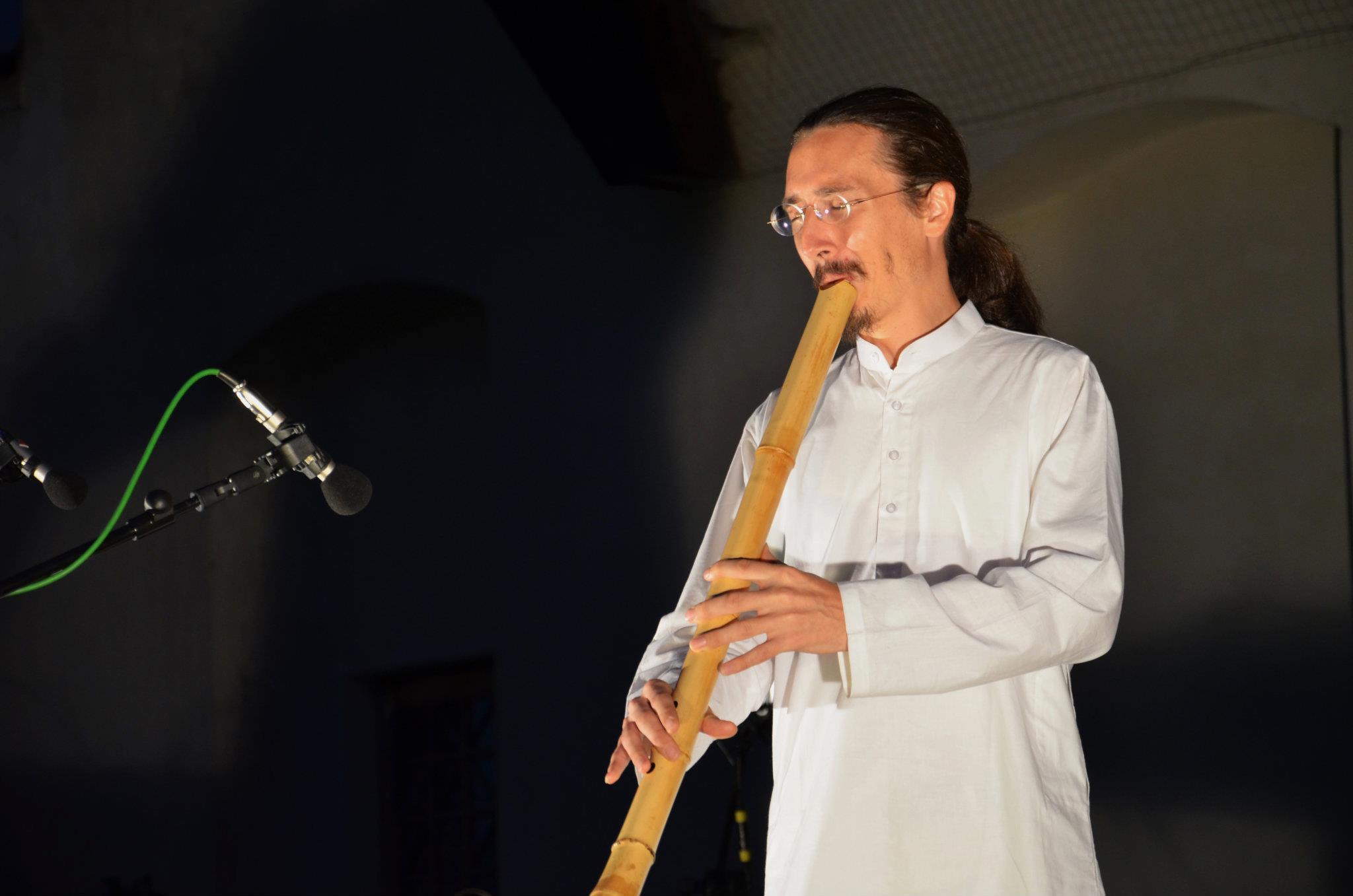 Prague Shakuhachi Festival 2011 opening performance Tamuke, Justin Senryu