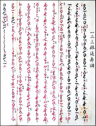 Kinko-ryu shakuhachi honkyoku notation
